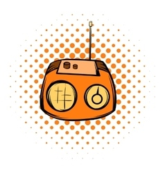 Boom box or radio cassette tape player comics icon vector