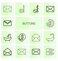Buttons icons vector