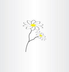 Chamomile icon design vector