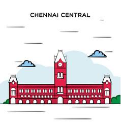 Chennai central railway station vector