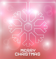 Christmas Snowflake on Blurred Background vector