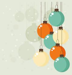 christmas vintage greeting card vector image vector image