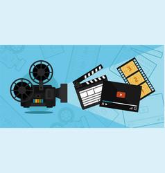 cinema shooting and video vector image