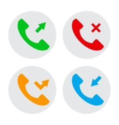 Circle phone icons vector image