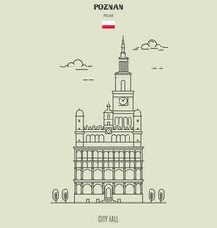 City hall in poznan vector