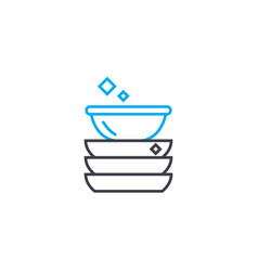 clean dishes linear icon concept clean dishes vector image