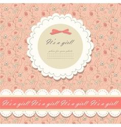 Color pink floral background vector image