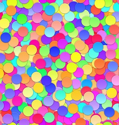 Colorful Confetti Seamless Background vector image