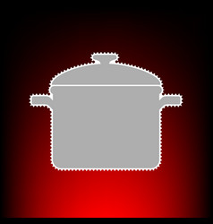 cooking pan style vector image