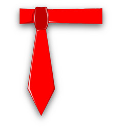dads red tie vector image
