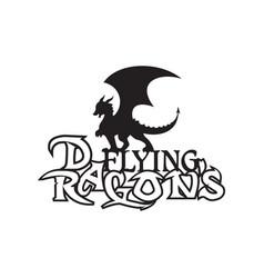 dragon letter vector image