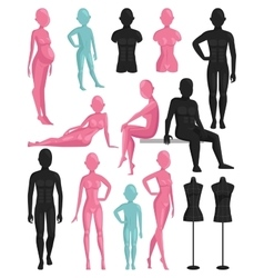 Dummy mannequin model vector