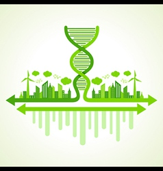 Ecology concept with dna strand vector