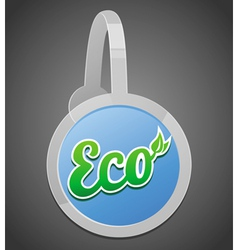 ecology label vector image vector image