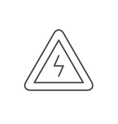 electricity warning line outline icon vector image