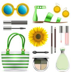 Fashion accessories set 8 vector