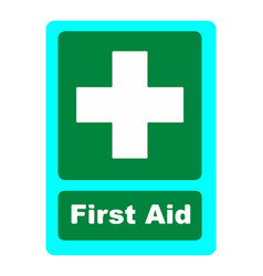 first aid kit medical icon vector image
