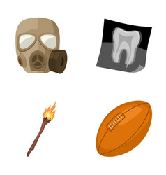 Gas mask x-ray and other web icon in cartoon vector