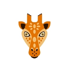 Giraffe African Animals Stylized Geometric Head vector