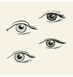 Hand-drawn eyes vector