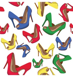 High heels pattern vector