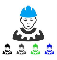 Industrial builder flat icon vector