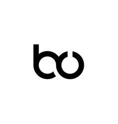 Initials bu logo is simple and modern vector