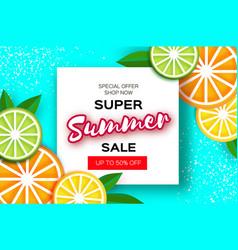 Lemon lime orange citrus super summer sale vector