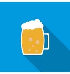 Light beer mug icon flat style vector image vector image