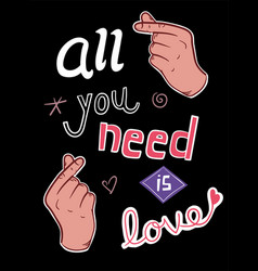 love concept t-shirt print and embroidery with vector image