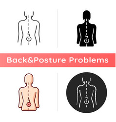 Lower back pain icon vector