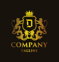 Luxury letter d logo vector
