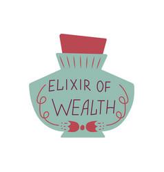 Magic cartoon bottle wealth elixir vector