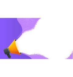 Megaphone with speech bubble vector