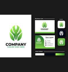 Monstera leaf logo design inspiration vector