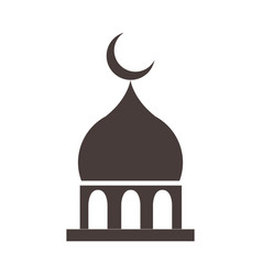 mosque moon temple ramadan arabic islamic vector image