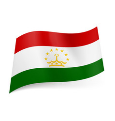 National flag of tajikistan red white and green vector
