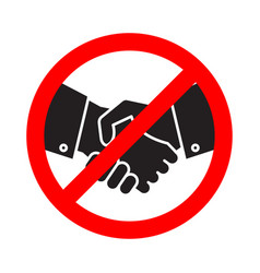 no handshake icon collaboration stop contact vector image