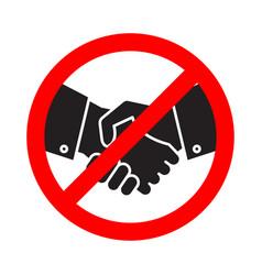 no handshake icon no collaboration stop contact vector image