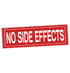 No side effects grunge rubber stamp vector