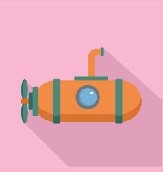 One person submarine icon flat style vector