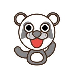 Panda baby animal kawaii design vector