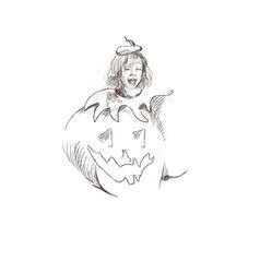 Pumpkin costume vector
