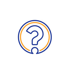 question mark line icon support help sign vector image