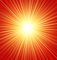 Realistic sun burst with flare with spare f vector image