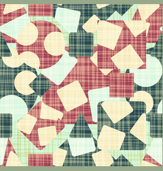 retro design cloth with geometric shapes vector image