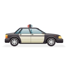 Retro Police Car Icon Isolated Realistic 3d Design vector