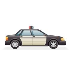Retro Police Car Icon Isolated Realistic 3d Design vector image