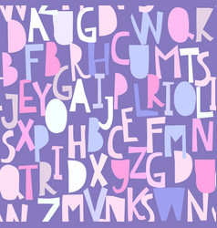 seamless pattern with abc or alphabet vector image