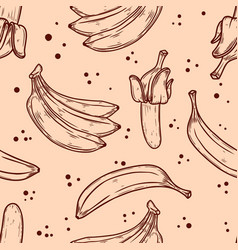 seamless pattern with bananas design element vector image